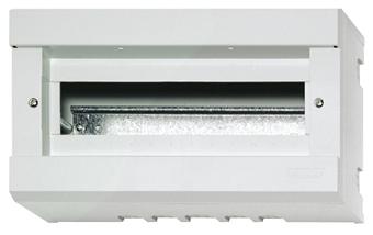 1 Stk Aufputz-Haubenverteiler, 12+1TE, 1-reihig ohne Tür, IP40 IM009016--