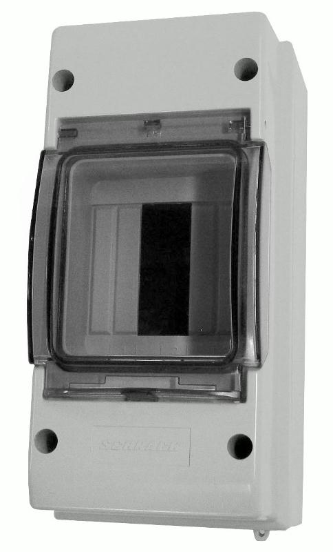 1 Stk Automatengehäuse, 3TE, 1-reihig mit Klappdeckel, IP55 IM009019--