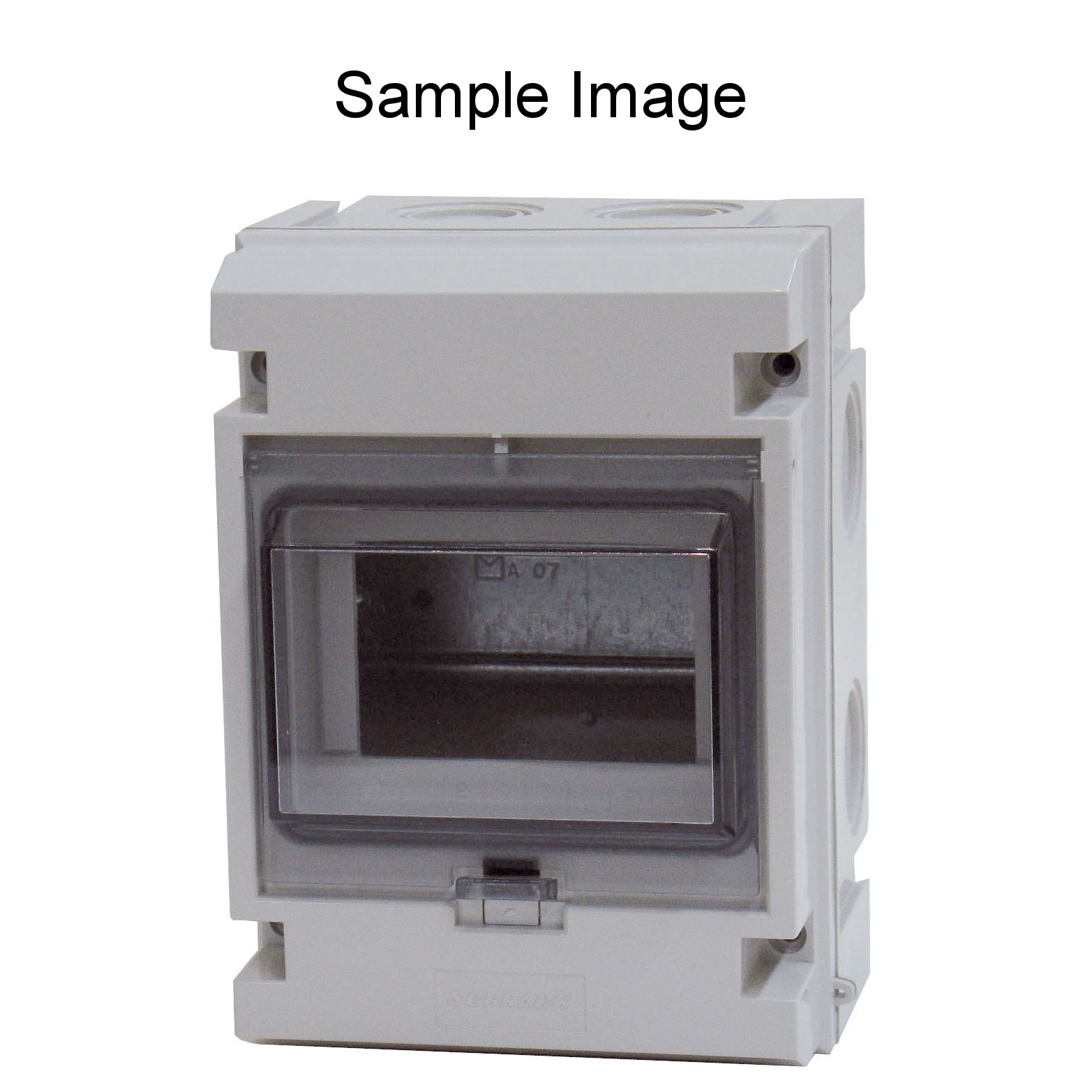 1 Stk Automatengehäuse, 8TE, 1-reihig mit Klappdeckel, IP55 IM009021--