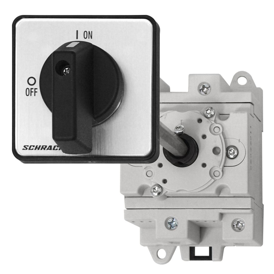 1 Stk Hauptschalter 2 pol. 32A, 600VDC, Bodenbef., Türkupplung ZBV IN7C0204--