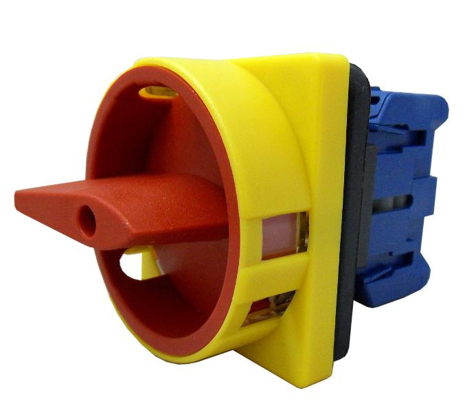1 Stk Not-Aus-Schalter, Fronteinbau mit 4-Lochbef., 3-polig 25A IN802001--