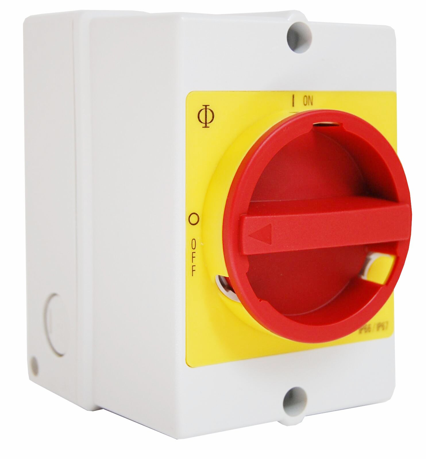 1 Stk Not-Aus-Schalter, 3-polig + 2 Hilfskontakte, PE-Klemme, 20A IN892016--