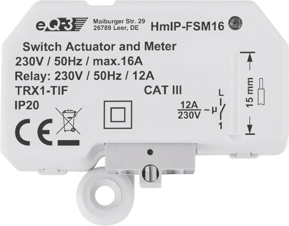 1 Stk Homematic IP Schalt Aktor Unterputz IRS00009--