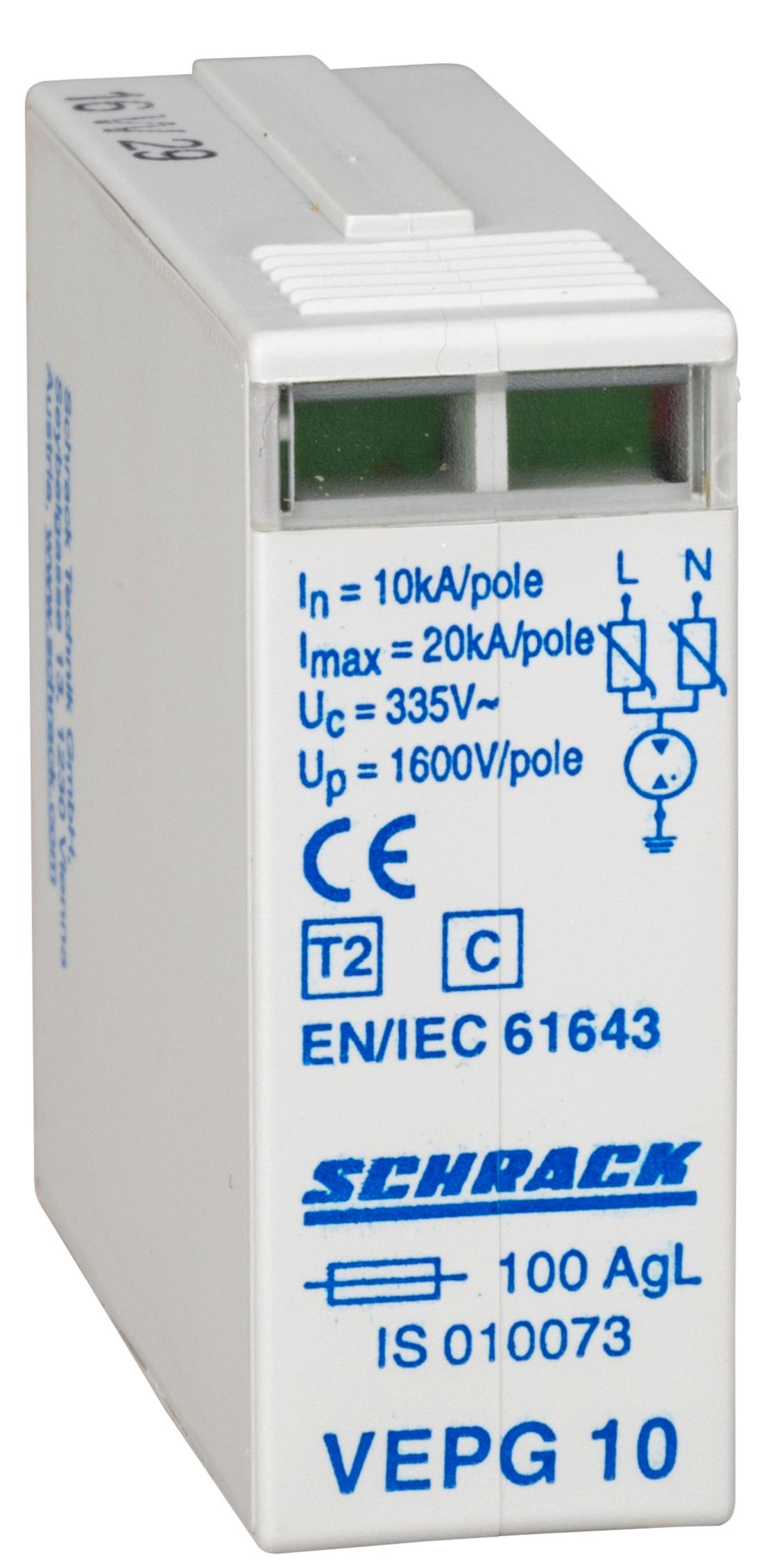 1 Stk C-Ableiter-Modul 1-phasig L+N 10kA 335V IS010073--