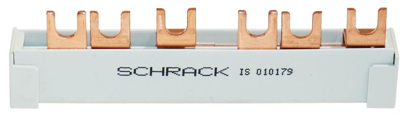 1 Stk Verschienung 3-polig, Brücke FI/Ableiter IS010179--