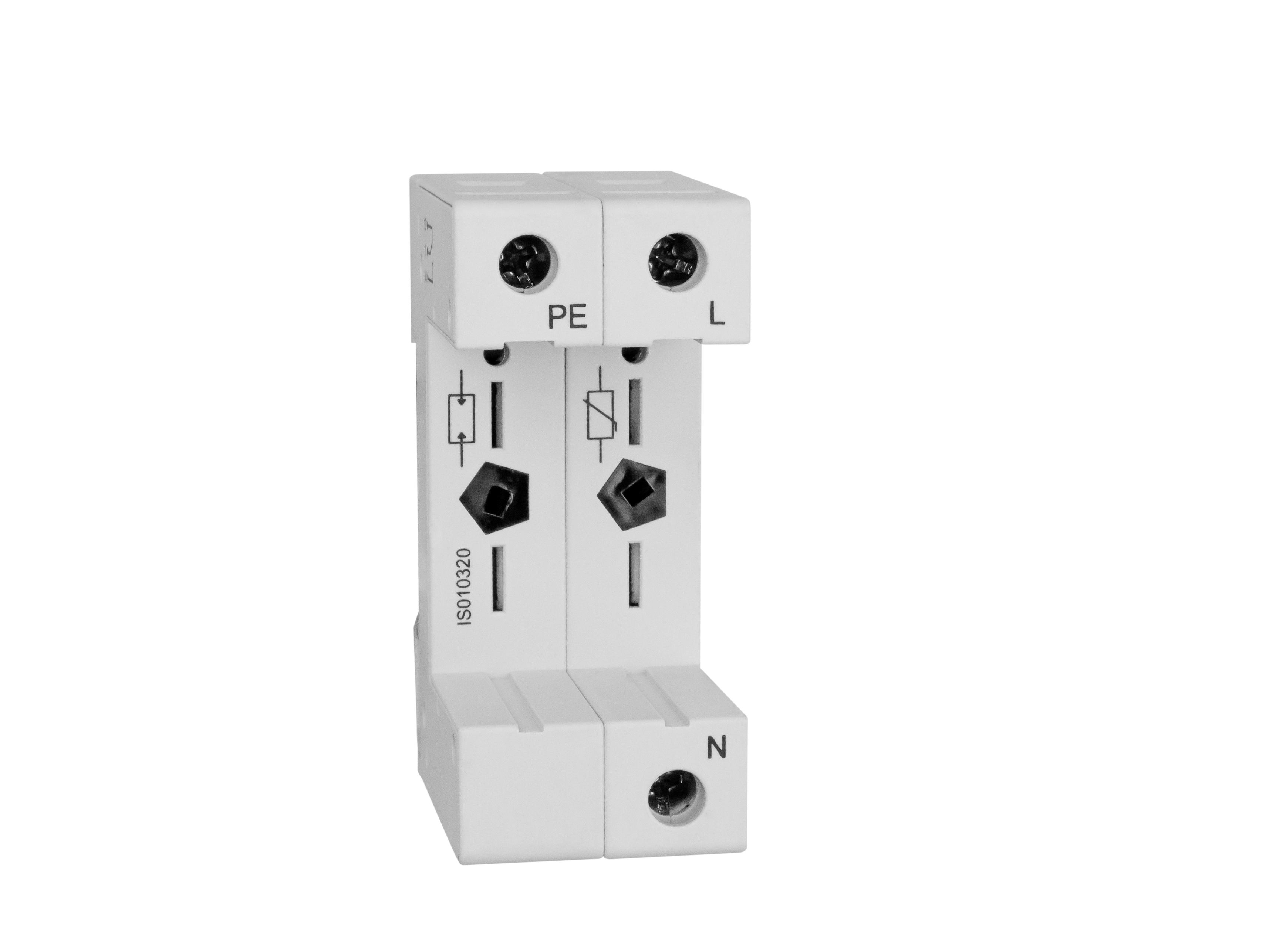 1 Stk Vartec TII, Sockel 1+1 (für 1 VVM, 1 VGM), ohne Hilfskontakt IS010320--