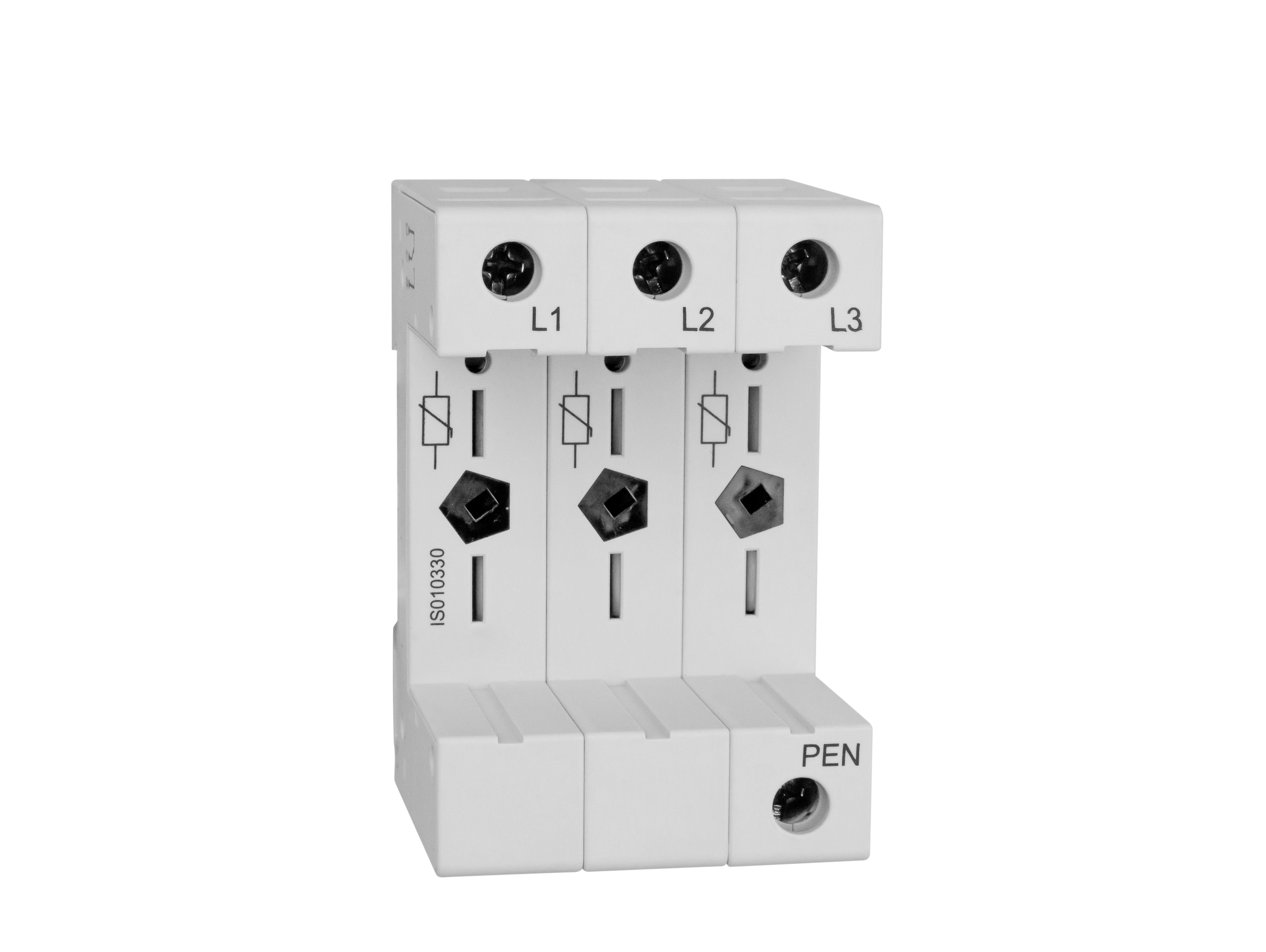 1 Stk Vartec TII, Sockel 3+0 (für 3 VVM), ohne Hilfskontakt IS010330--