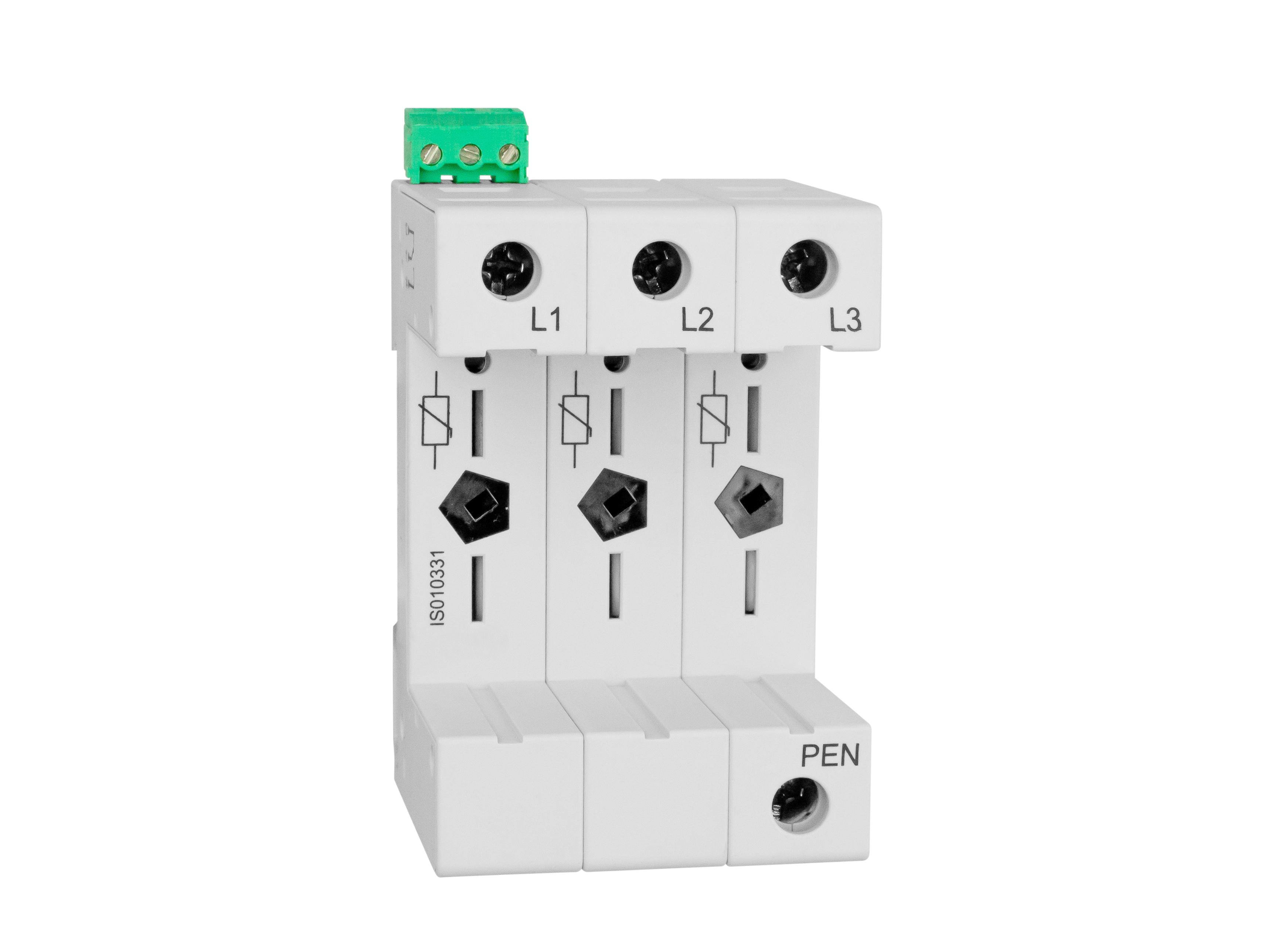 1 Stk Vartec TII, Sockel 3+0 (für 3 VVM), mit Hilfskontakt IS010331--