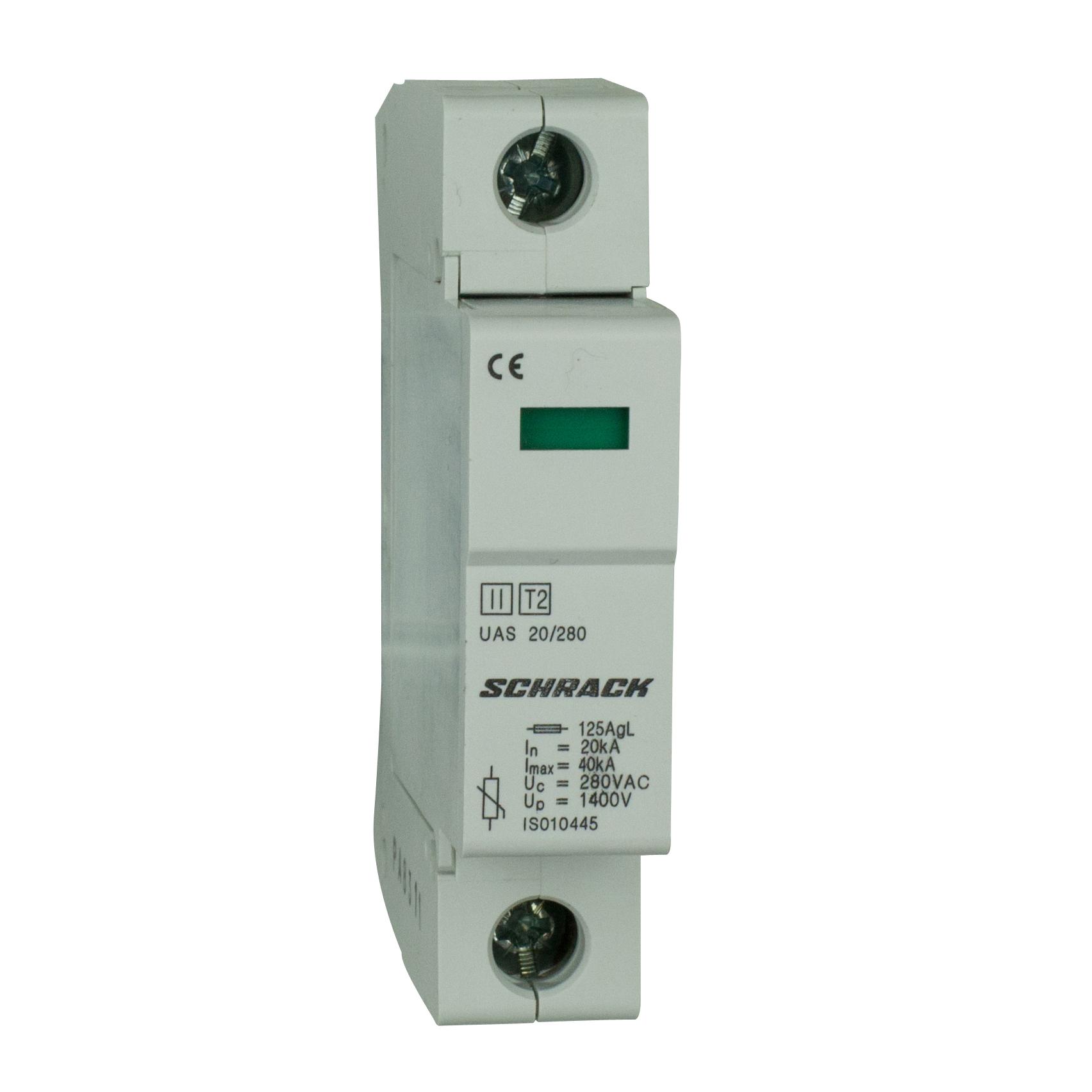 1 Stk T2/C - Ableiter komplett, 1p, 20kA/280V - Serie UAS IS010446--