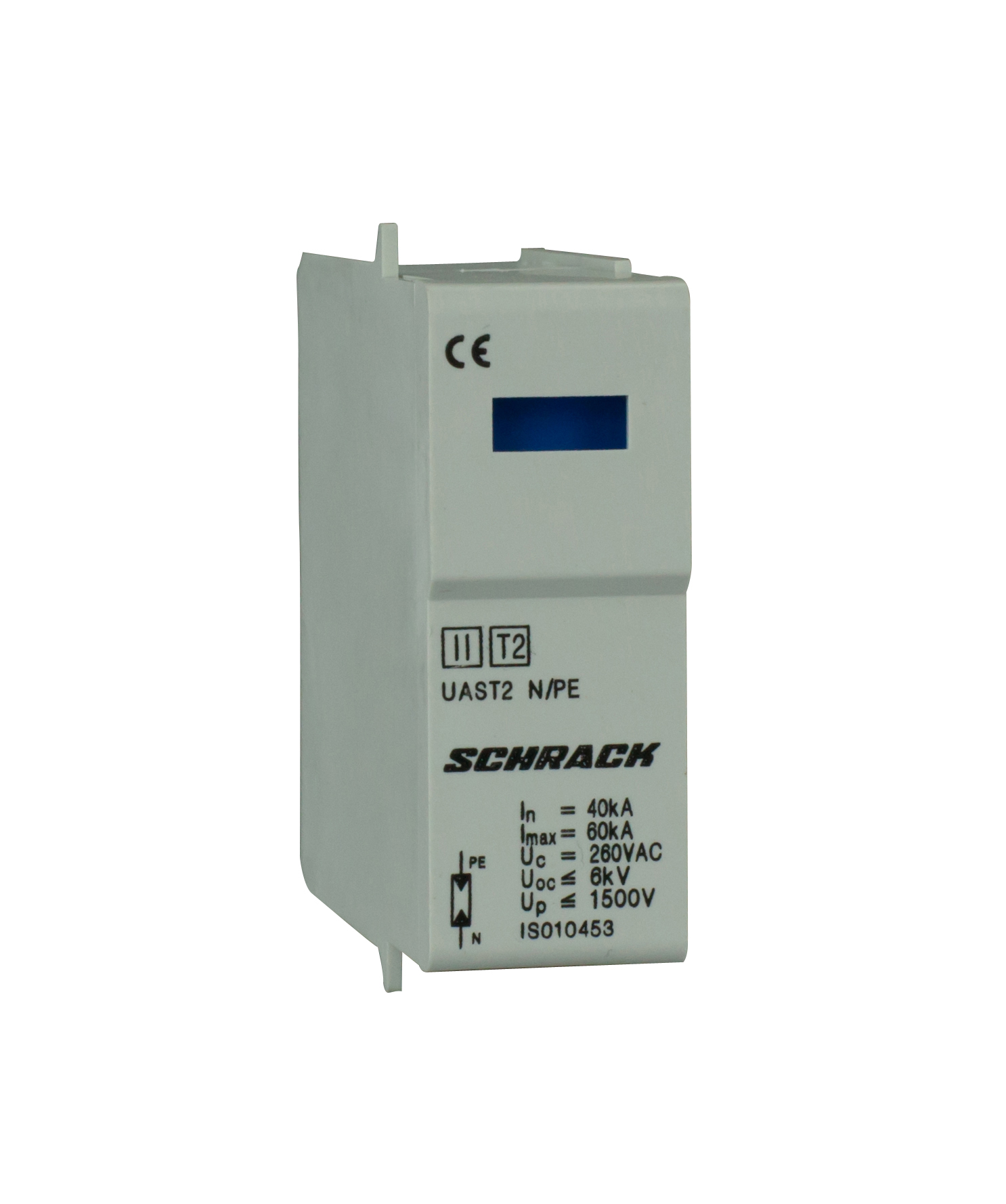 1 Stk T2/C - Ableitermoduleinsatz GG 60kA/260V - Serie UAS IS010453--