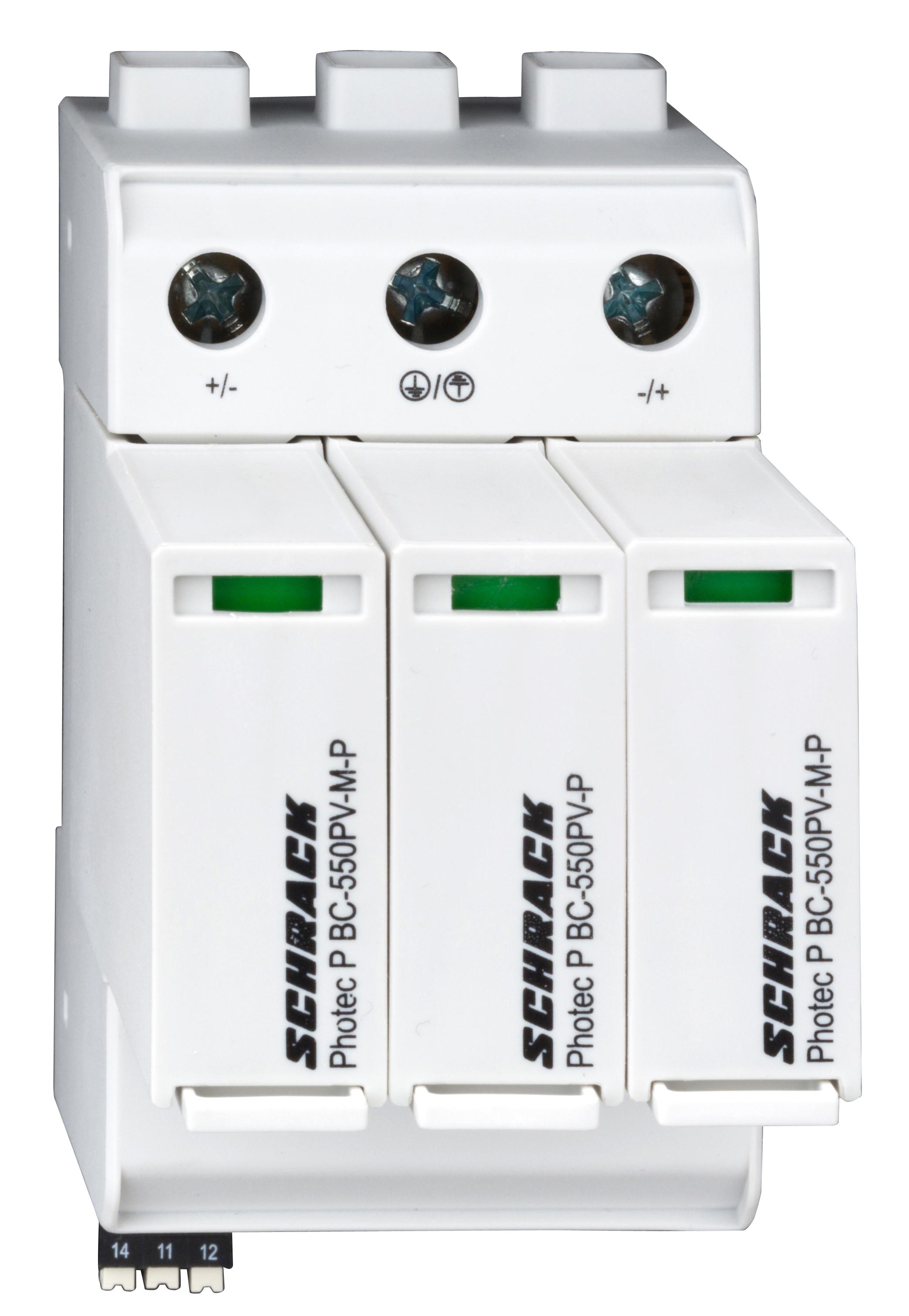 1 Stk Photovoltaikabl.steckb., Kl. 1+2(B+C)1100Vdc, Iimp 12,5kA+HK IS01111101