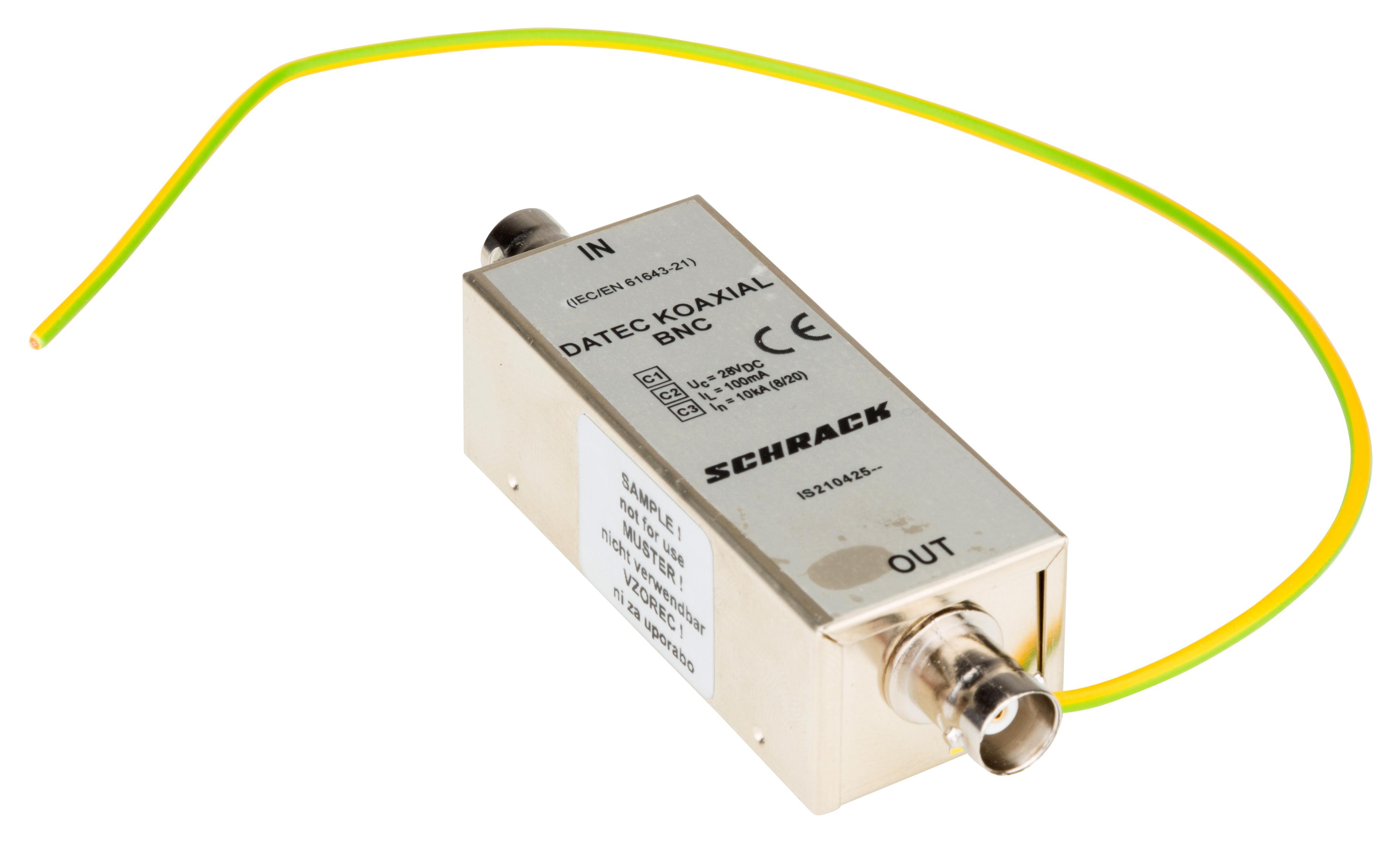 1 Stk Datenableiter für Koaxialkabel mit BNC Stecker IS210425--