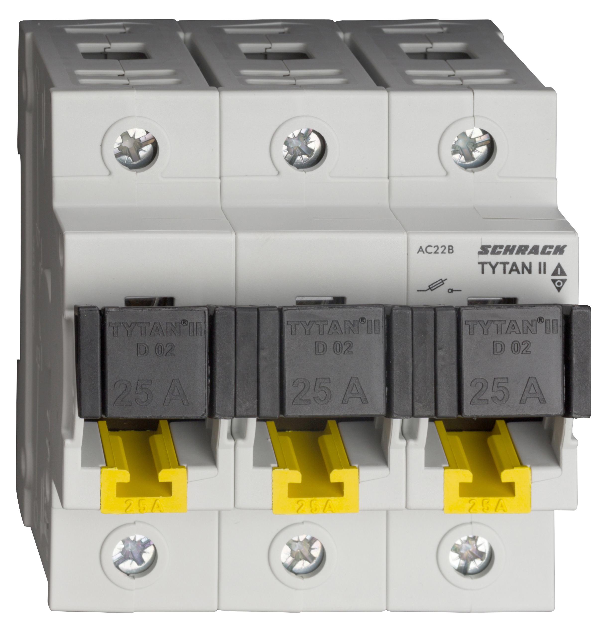 1 Stk TYTAN II, D02-Sicherungslasttrennschalter,3-pol komplett 25A IS5047PL25