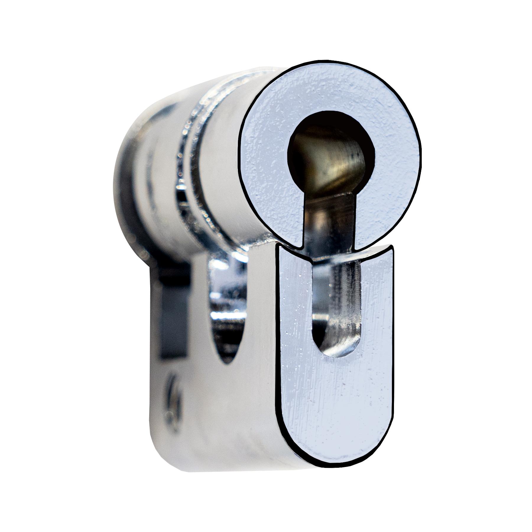 1 Stk 61005 Halbzylinder Einsatz zu Schwenkhebel IL900205-F IU001916--