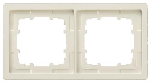 1 Stk Rahmen, Style, titanweiß, 2-fach  KX1322----