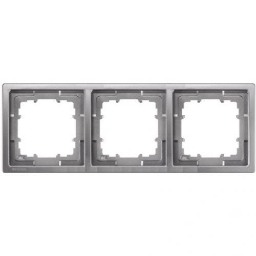 1 Stk Rahmen, Style, platinmetallic, 3-fach KX13231---