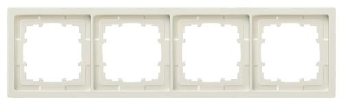 1 Stk Rahmen, Style, titanweiß, 4-fach  KX1324----