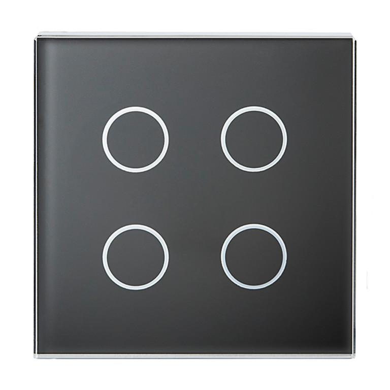 1 Stk Tastsensor Abdeckung, 2-fach, schwarz KX2128DB21