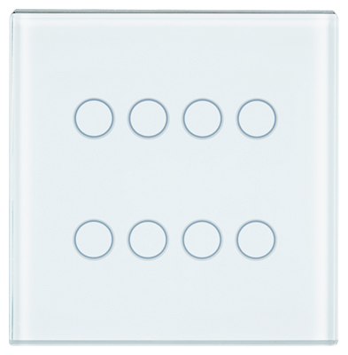 1 Stk Tastsensor Abdeckung, 4-fach, weiß KX2138DB11