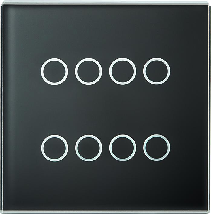1 Stk Tastsensor Abdeckung, 4-fach, schwarz KX2138DB21
