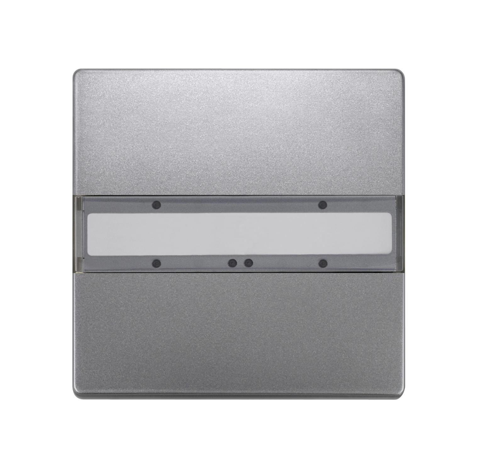 1 Stk Taster 1-fach ohne Status-LED, DELTA style, platinmetallic KX2852DB42