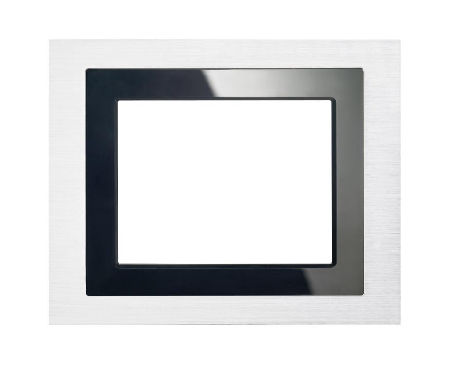 1 Stk Designrahmen für Touch-Panel, Edelstahl-Design KX5888AB13