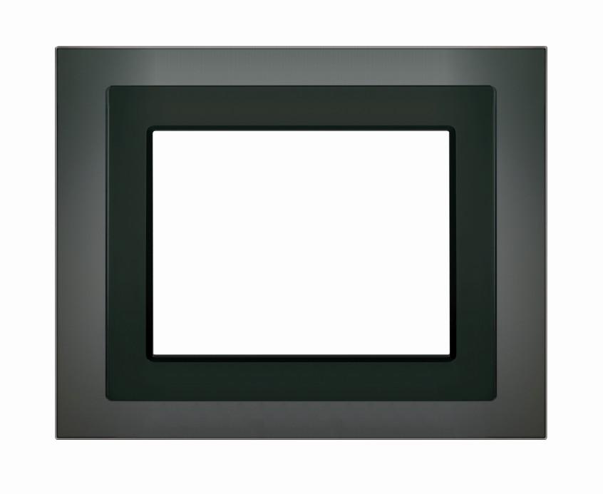 1 Stk Designrahmen für Touch-Panel, Glas schwarz KX5888AB14