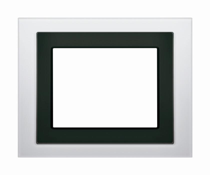 1 Stk Designrahmen für Touch-Panel, Glas weiß KX5888AB15