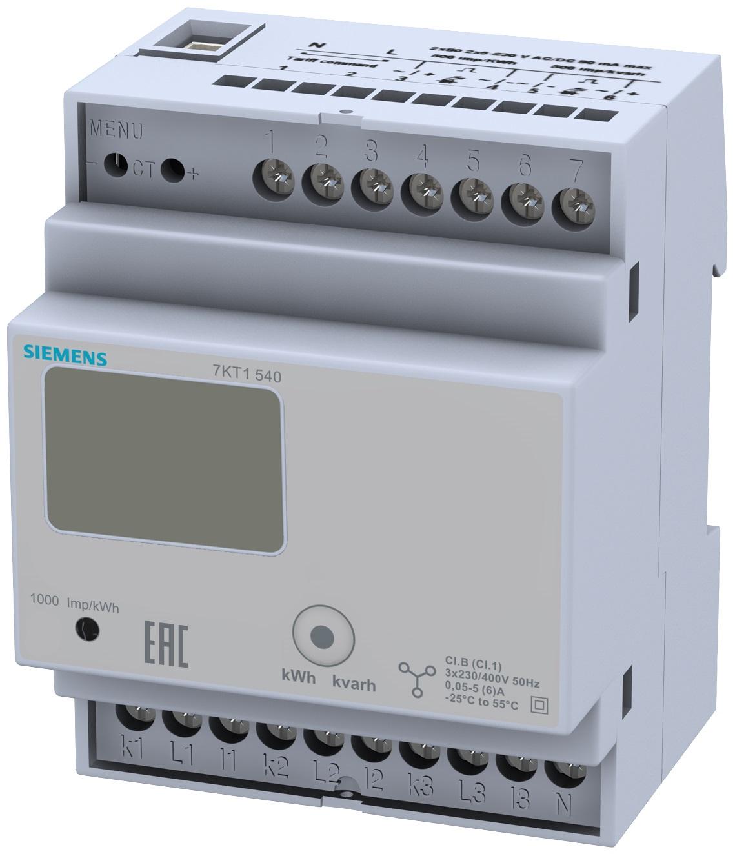 1 Stk 3-Phasen-Zähler, Wandleranschluss, 5A KX7KT1540-
