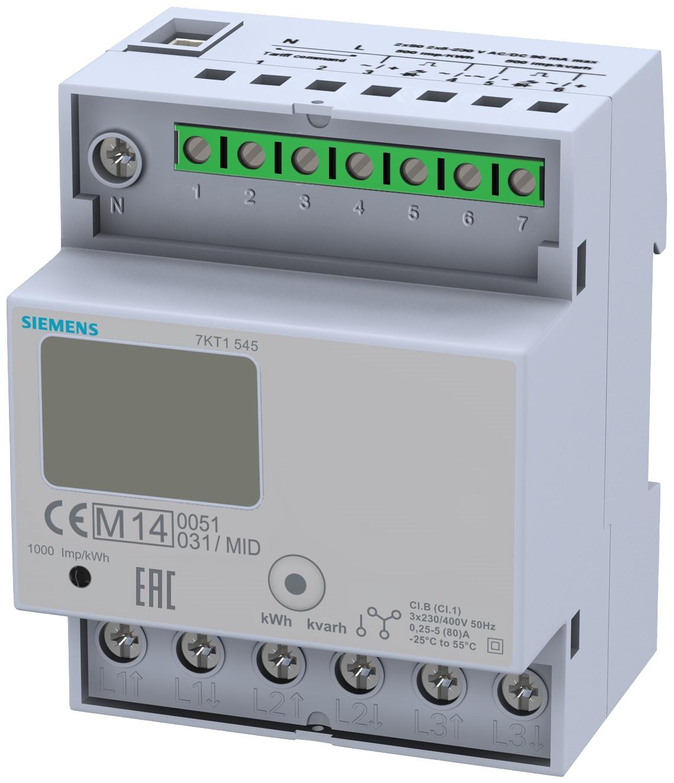 1 Stk 3-Phasen-Zähler, Direktanschluss, 80A, MID KX7KT1545-