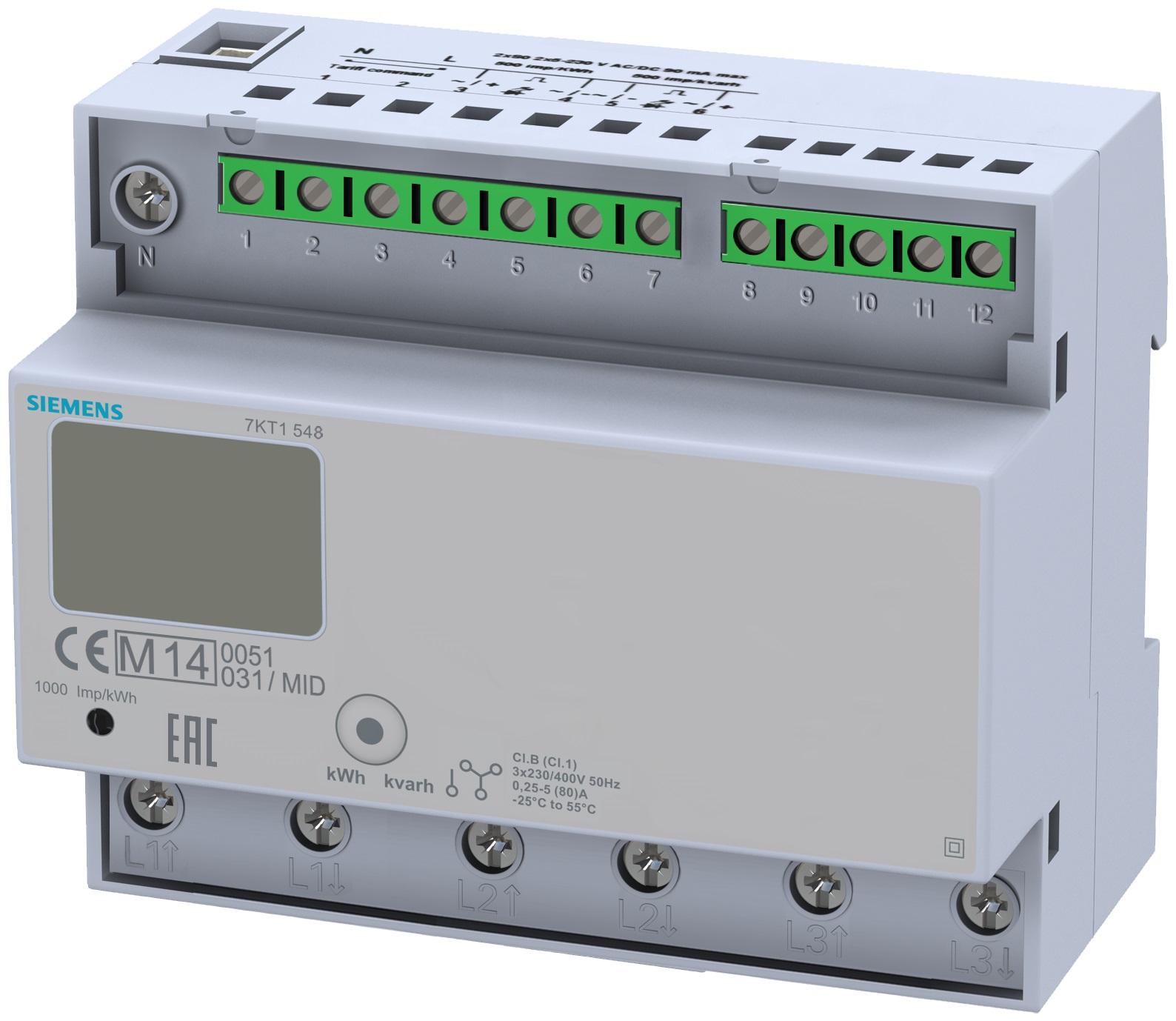 1 Stk 3-Phasen-Zähler, Direktanschluss, 125A, MID KX7KT1548-
