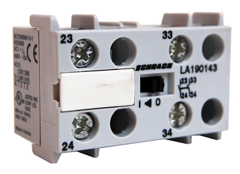 1 Stk Hilfskontakt für Minileistungsschütze LA1, 2 Schließer LA190143--