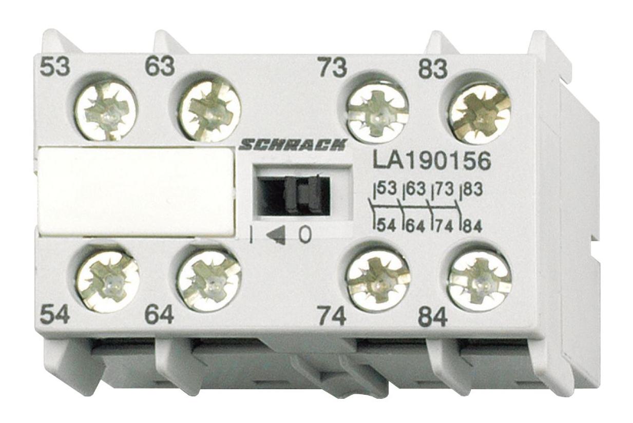 1 Stk Hilfskontakt für Mini-Hilfsschütze LA1, 4S LA190156--