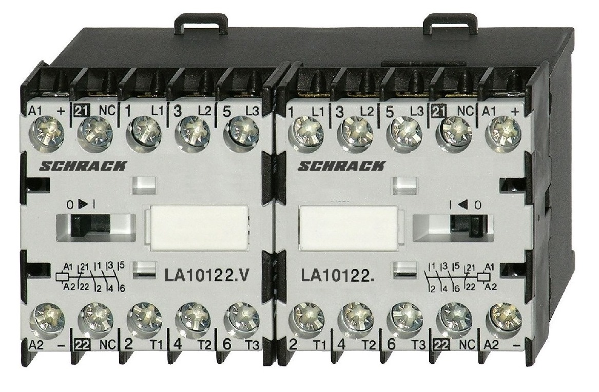 1 Stk Mini-Wendeschütz 5,5kW 230VAC, mit Öffner LA1W12W301
