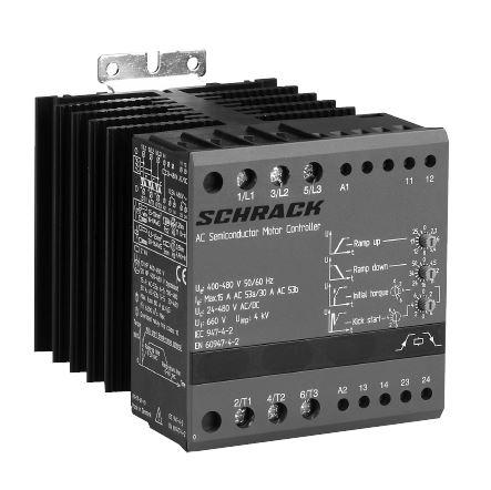 1 Stk Halbleiter-Motorkontroller 400-480VAC, 60A ohne Bypass (BP) LATD4605--