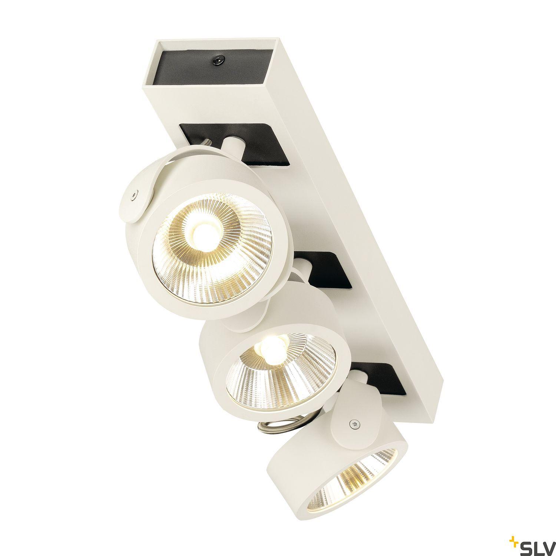 1 Stk KALU LED 3 Wand- und Deckenleuchte, 3000K, 60° weiß/schwarz LI1000132-