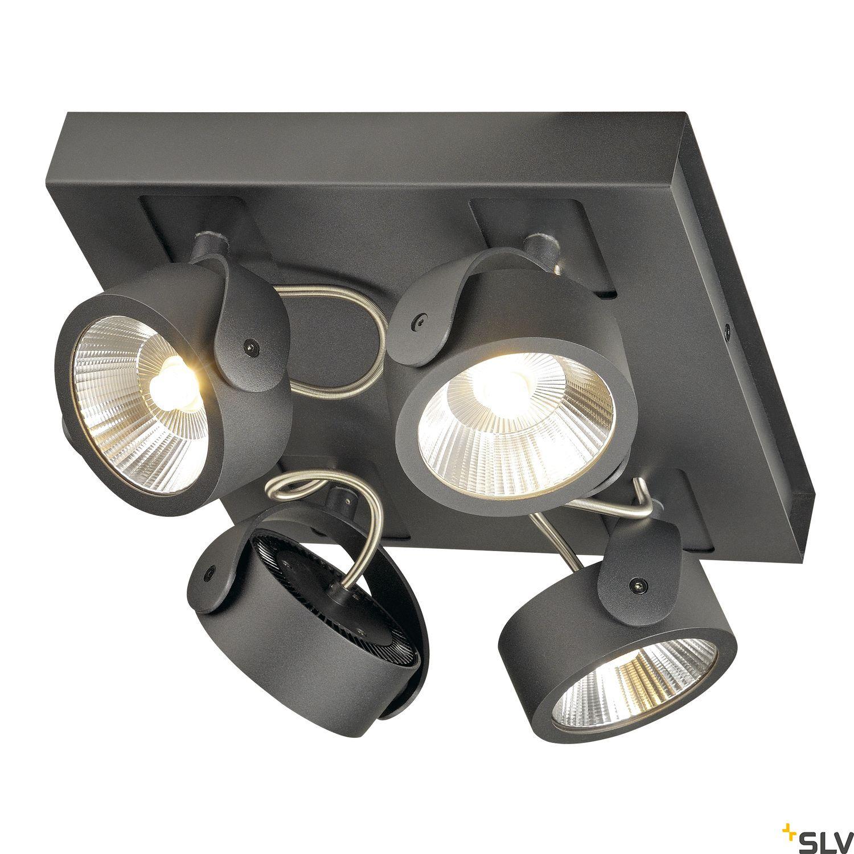 1 Stk KALU LED 4 Wand/Deckenleuchte,square,3000K,60° schwarz LI1000135-