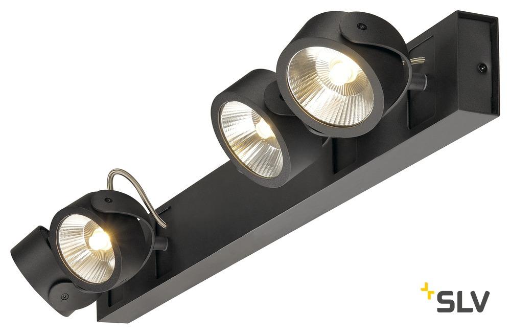 1 Stk KALU LED 4 Wand- und Deckenleuchte, long, 3000K, 60° schwarz LI1000137-