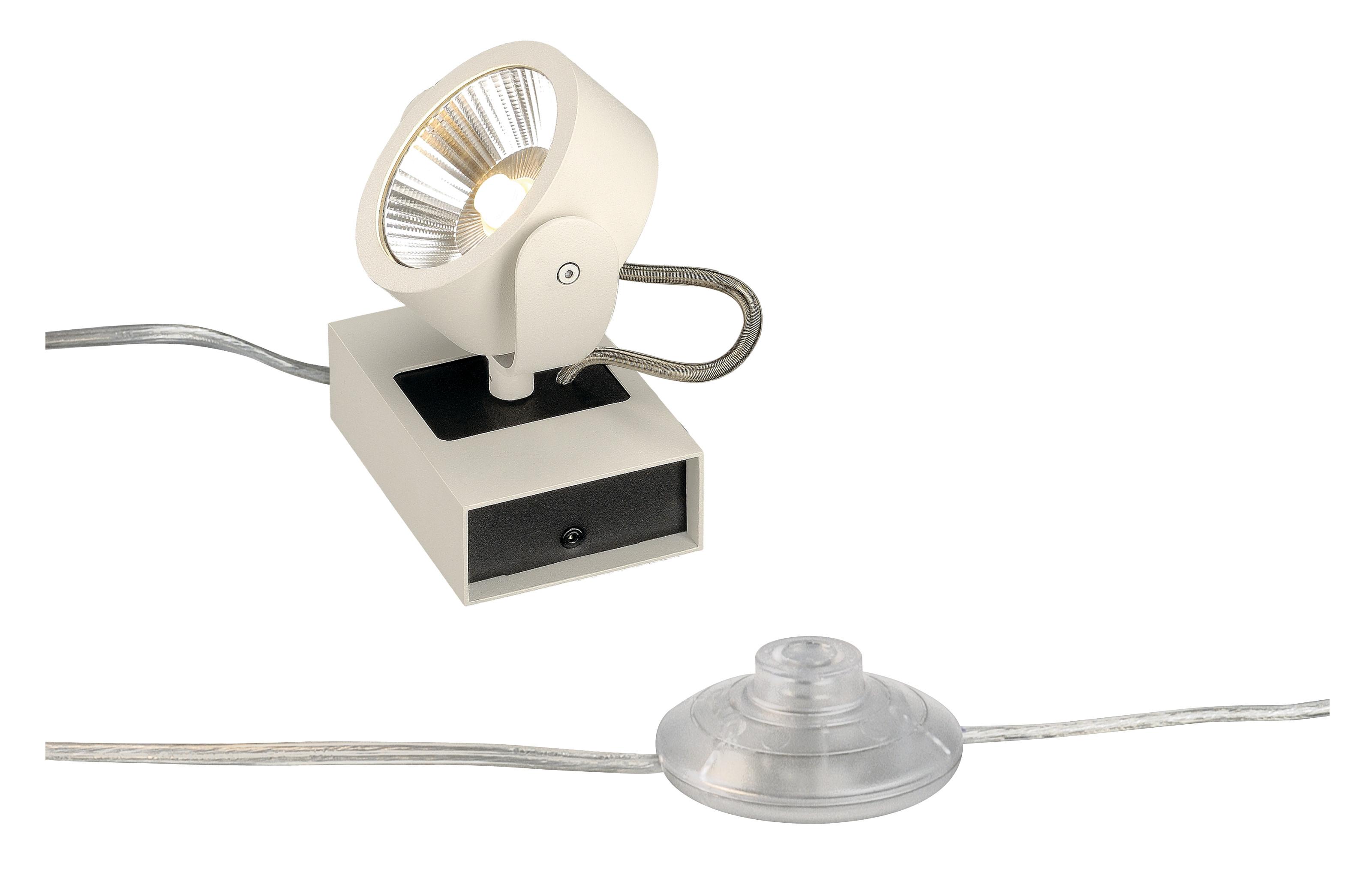 1 Stk KALU LED 1 FLOOR Bodenleuchte, weiß/schwarz, 3000K, 60°  LI1000140-