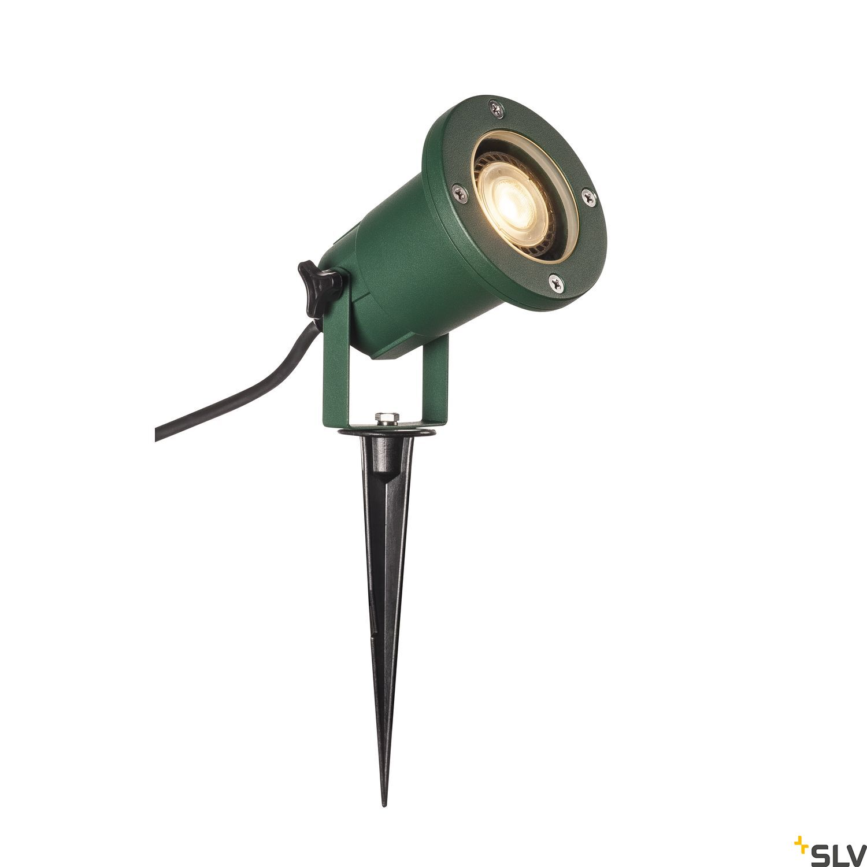 1 Stk BIG NAUTILUS QPAR51, Outdoor Erdspießleuchte, grün IP65 11W LI1001965-