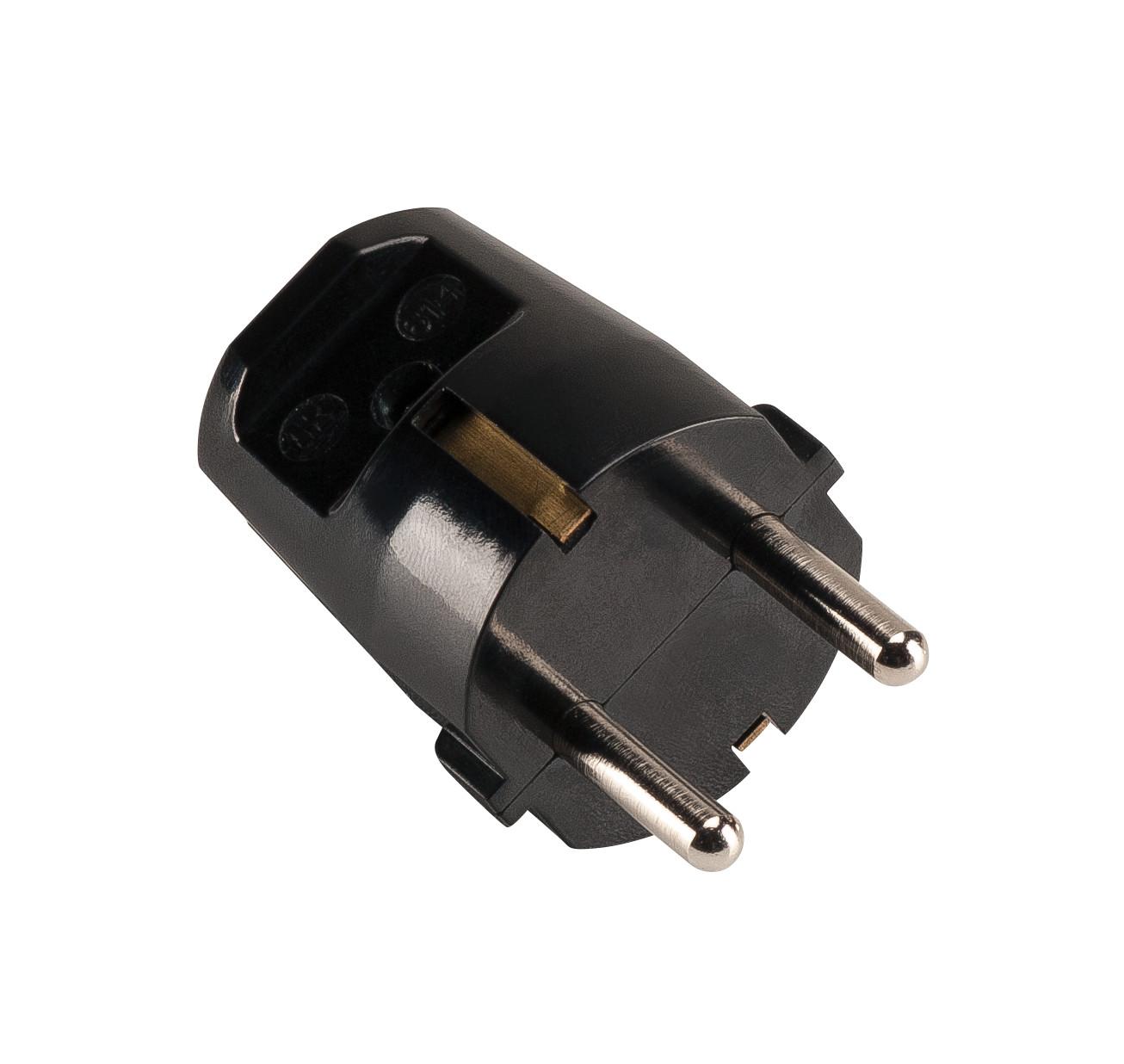 1 Stk SCHUKO-STECKER, schwarz LI111880--