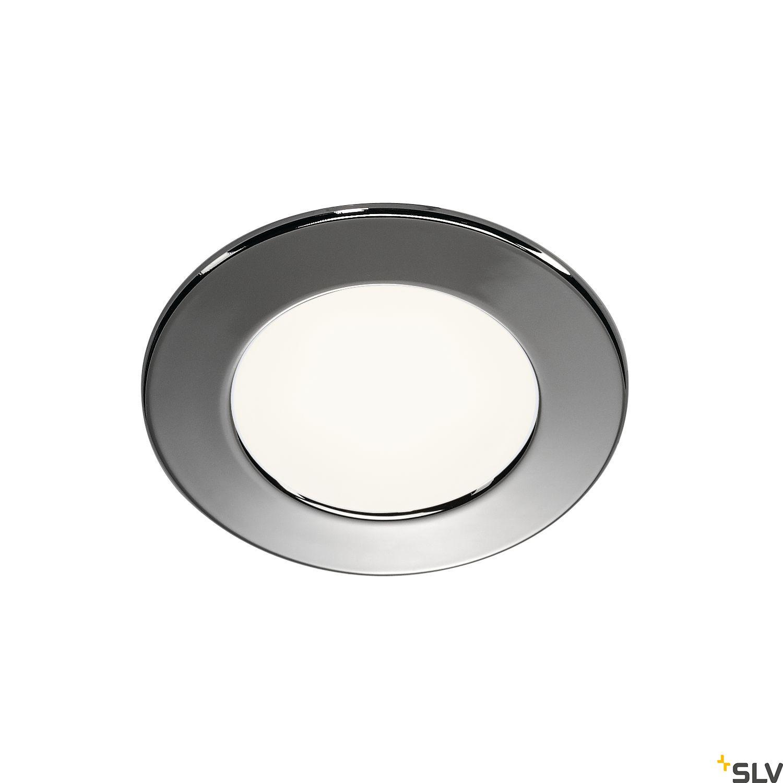 1 Stk DL 126 LED Downlight, 3W, 3000K, 12V, rund, acryl, chrom LI112222--