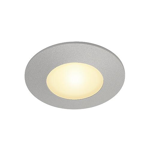 1 Stk AITES LED ROUND für Installationsdosen, 1W, 3000K silbergrau LI112344--
