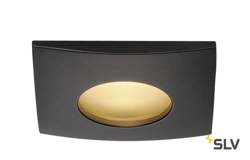 1 Stk OUT 65 LED DL SQUARE Set, 9W, 3000K, 38°, schwarz LI114470--