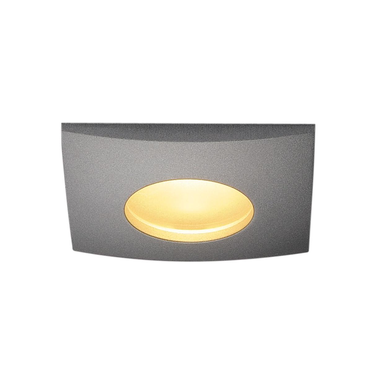 1 Stk OUT 65 LED DL SQUARE Set, 9W, 3000K, 38°, silbergrau LI114474--