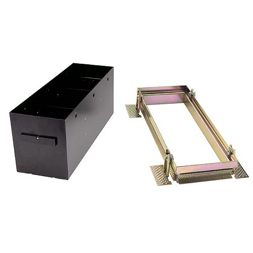 1 Stk AIXLIGHT PRO III FRAMELESS Einbaugehäuse + Einbaukit, silber LI115153--