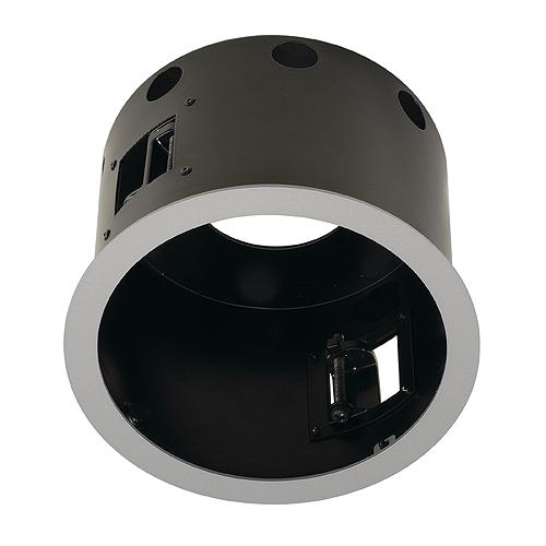 1 Stk AIXLIGHT PRO FLAT ROUNDFRAME 1 Einbaugehäuse, silbergrau LI115604--
