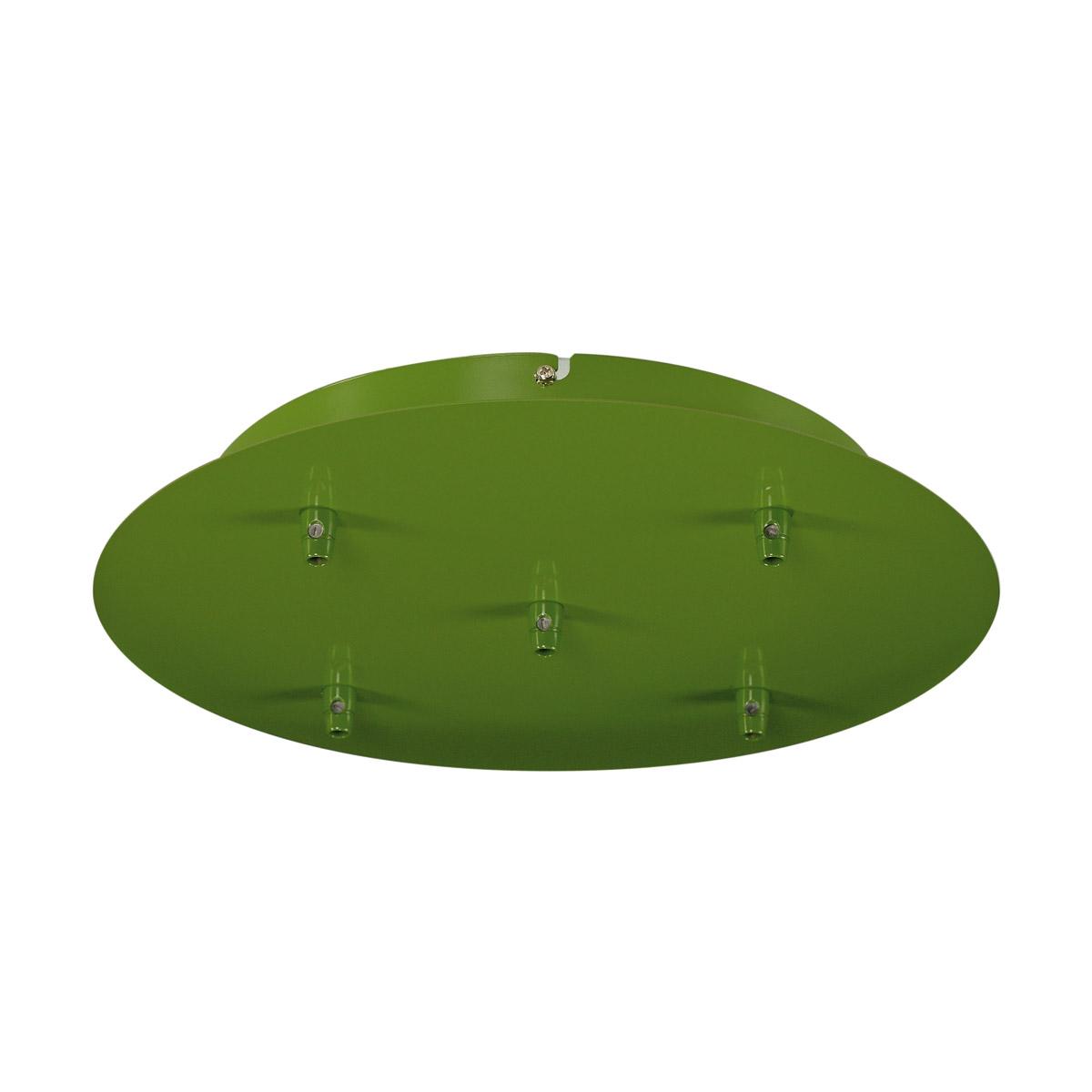 1 Stk Deckenrosette, 5 Ausgänge, farngrün, inkl. Zugentlastungen LI132628--