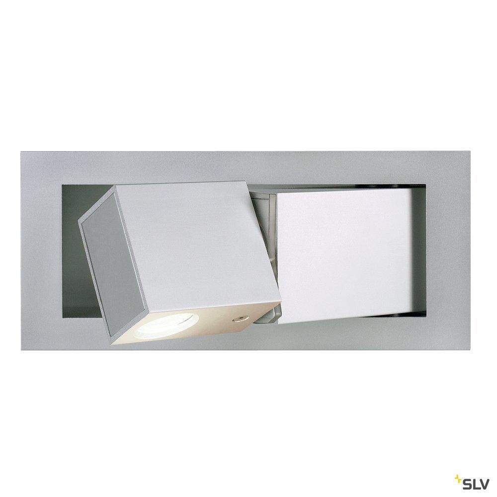 1 Stk BEDSIDE LINKS LED Wandleuchte, 3W, 3000K, 110lm, silbergrau LI146242--