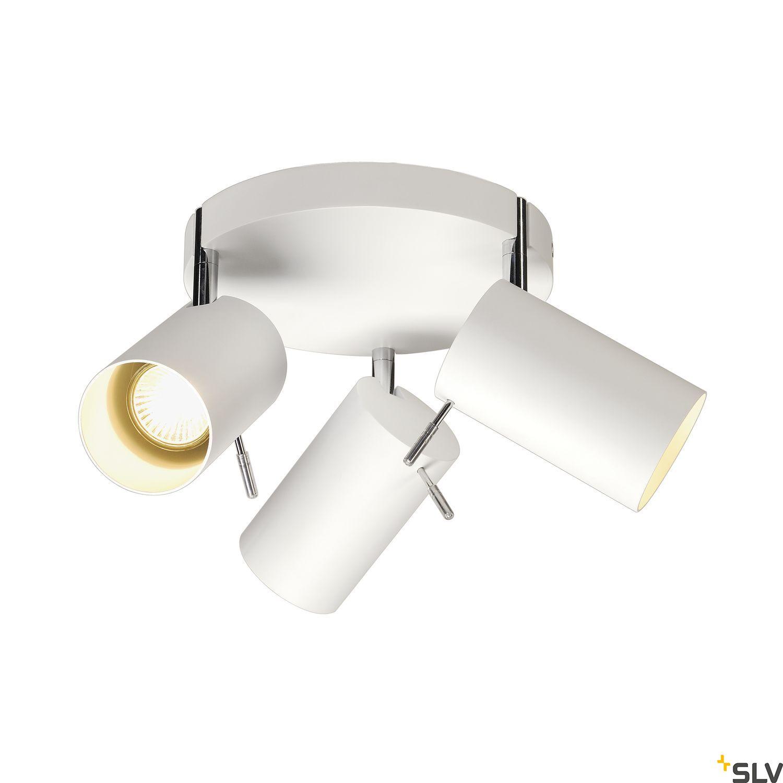 1 Stk ASTO TUBE 3 ROUND, GU10, max. 3x75W, runde Rosette, weiß LI147414--